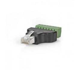 Connecteur de Sécurité CCTV | Câble à 8 Fils vers Connecteur Male RJ45