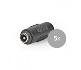 Connecteur de Sécurité CCTV | 5x | Changeur de Genre Female CC | 5,5 x 2,1 mm