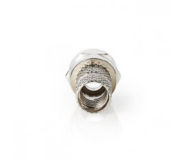Connecteur F | Homme | Compatible avec les Câbles Coaxiaux de 5,5 mm | 25 pièces | Métal