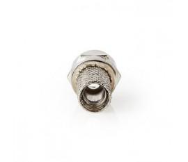 Connecteur F | Homme | Compatible avec les Câbles Coaxiaux de 5,0 mm | 25 pièces | Métal