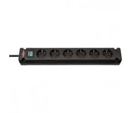 Brennenstuhl Bremounta Extension Socket 6-way black 3m H05VV-F 3G1.5