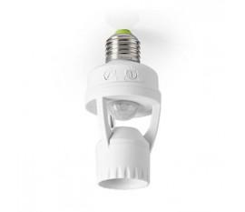 Détecteur de Mouvement | Raccord E27 | Paramètres d'Heure et de Lumière Ambiante Réglables