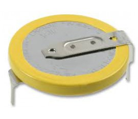 Batterie, 3 V, 2032, Lithium-dioxide de manganèse, 220 mAh, Broches CI, 20 mm