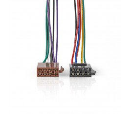 Câble ISO Standard | Connecteur Radio - 2x connecteurs pour Voiture | 0,15 m | Multicouleur