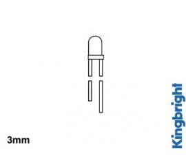 LED A RESISTANCE INTERNE 3mm 12V - VERT DIFFUSANT