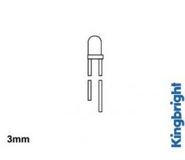 LEDS STANDARD 3mm - ROUGE TRANSLUCIDE