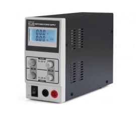 ALIMENTATION DE LABORATOIRE À DÉCOUPAGE 0-30 VCC / 0-10 A MAX / AVEC AFFICHEUR LCD