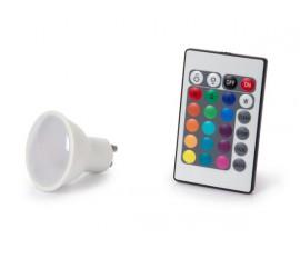 LAMPE LED - 4 W - GU10 - RVB & BLANC CHAUD