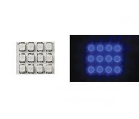 MODULE D'ÉCLAIRAGE - LED BLEUES À DIFFUSEUR ROND - 12V - 17 x 20mm