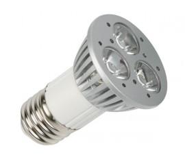 AMPOULE LED 3 x 1W - BLANC CHAUD (2700K) - 230V - E27 - 45°