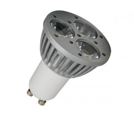 LAMPE LED 3 x 1W - JAUNE - 230V - GU10