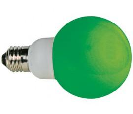 AMPOULE LED VERTE - E27 - 230VCA - 20 LED