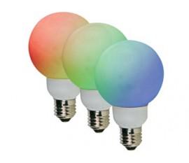 AMPOULE LED RGB - E27- 20 LED - Ø60mm