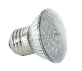 AMPOULE LED JAUNE - E27 - 240VCA - 18 LEDs