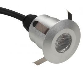 PROJECTEUR DE SOL À LED - 5 x LED de 0.6 W - ROND - BLANC CHAUD