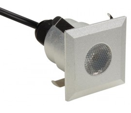 PROJECTEUR DE SOL À LED - 5 x LED de 0.6 W - CARRÉ - BLANC CHAUD