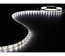 KIT RUBAN À LED FLEXIBLE AVEC ALIMENTATION - BLANC FROID - 300 LED - 5 m - 12 VCC - SANS REVÊTEMENT