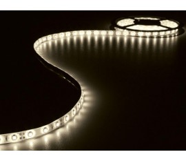KIT RUBAN À LED FLEXIBLE AVEC ALIMENTATION - BLANC CHAUD - 300 LED - 5 m - 12 VCC - SANS REVÊTEMENT