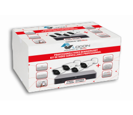 LVK-060 SECURITY CAMERA KIT: 4X BULLET CAMERAS 4MP + 8-CHANNEL NVR + HDD 1Tb