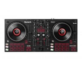 Contrôleur DJ USB 2-canaux avec 16 pads et écran dans les jog wheels Mixtrack Platinum FX