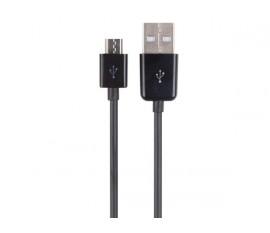 CÂBLE USB 2.0 A MÂLE VERS MICRO-USB 5 BROCHES MÂLE - NOIR - 1 m