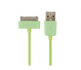 CÂBLE USB A MÂLE VERS APPLE® 30 BROCHES MÂLE - VERT - 1 m