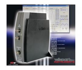 OSCILLOSCOPE À 2 CANAUX POUR PC AVEC CONNEXION USB + GÉNÉRATEUR