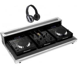 Pack PIONEER 2 X CDJ-350 + DJM-350 Noir + 1 casque HDJ-500 + flightcase Pro-350-Flt