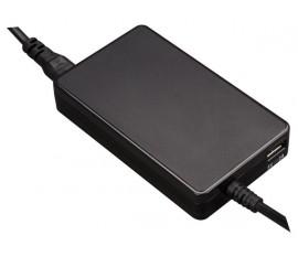 MINI ADAPTATEUR UNIVERSEL POUR ORDINATEUR PORTABLE - SORTIE 19 VCC - 4.74 A MAX. (90 W) + USB 2.1 A - SANS FICHES