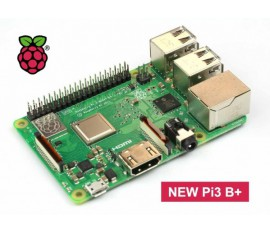 RASPBERRY PI3 B+ 4 x USB 2.0 Ports, emplacement MicroSD, 1GB LPDDR2 SDRAM, bluetooth v4.2, PoE