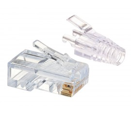 RJ45 CAT5e UNSHIELDED EASY CONNECTOR + BOOT - 10PCS PACK