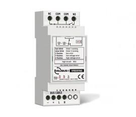 module relais à 1 canal avec contact inverseur libre de potentiel pour rail DIN