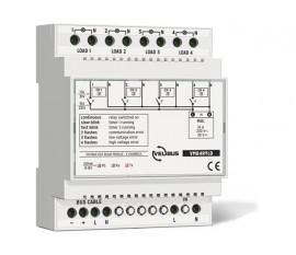 module relais à 4 canaux avec sorties de tension pour rail DIN