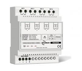 module relais à 4 canaux avec contacts libres de potentiel pour rail DIN