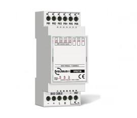 module d'entrée à 7 canaux (libres de potentiel + impulsion) pour rail DIN
