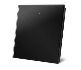 module de commande en finition verre avec touche tactile simple, noir