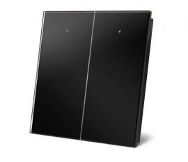 module de commande en finition verre avec touches tactiles doubles, noir