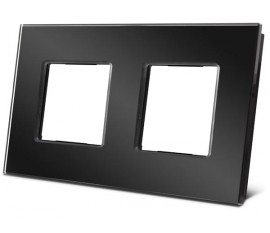 double plaque de recouvrement en verre pour BTicino® LivingLight, noir
