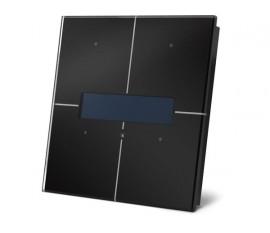 module de commande en finition verre à écran OLED et avec contrôleur de température, noir