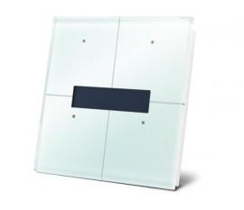 module de commande en finition verre à écran OLED et avec contrôleur de température, blanc