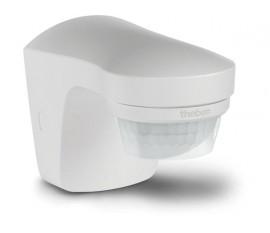 détecteur de mouvement et de crépuscule avec capteur de température pour l'extérieur, blanc