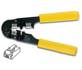 PINCE A SERTIR POUR CONNECTEURS MODULAIRES 4P2C, 4P4C (RJ10)