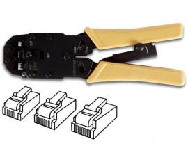PINCE A SERTIR PROFESSIONNELLE POUR CONNECTEURS MODULAIRES RJ10 - RJ11 - RJ12 - RJ45