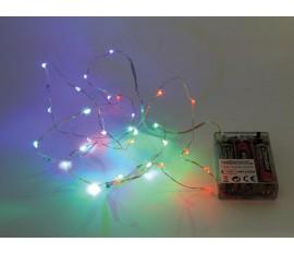 GUIRLANDE À LED - RGB - 20 LED - SUR PILES
